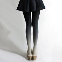 Ombr tights in Coal by BZRBZR