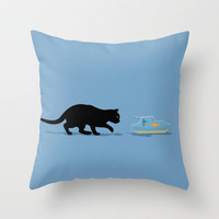 Fish Tank Throw Pillow by mip1980 | Society6