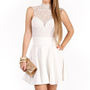 White Crochet Dress