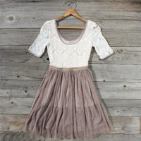 Charming Lace Dress, Sweet Women's Country Clothing
