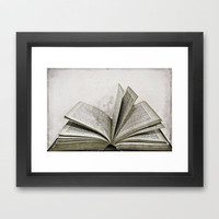 Reading Is Dreaming With Open Eyes Framed Art Print by Ally Coxon | Society6