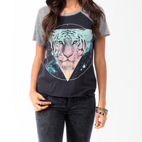 Cosmic Tiger Raglan Tee