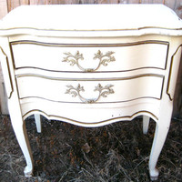 vintage nightstand/end table///custom paint by gemSTUDIOvintage