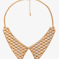Cutout Pyramid Stud Bib Necklace | FOREVER21 - 1037251495