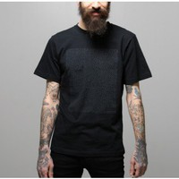 Notebook print t-shirt black by Saturdays Oak