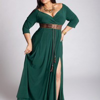 Rebecca Plus Size Gown in Evergreen