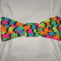 Colorful Neon and Black Knotted Headband For spring, summer nights colorful