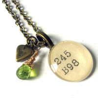 AAA Grade Peridot and Primitive Heart Brass XL by writtennerd