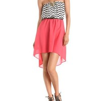 Belted Hi-Low Tube Dress: Charlotte Russe