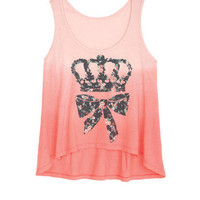 Dip Dye Hi-Low Crown Tank