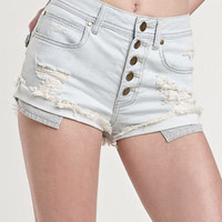 Kendall & Kylie Frostbite High Waist Shorts at PacSun.com