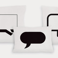 Conversation Pieces Pillows by Heather Lins: Fiber Pillow - Artful Home