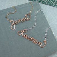 Rose Gold Filled Personalized Name Necklace