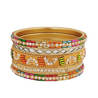 Set of 5 Glistening Bangles | FOREVER21 - 1058635119