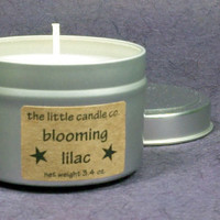 Blooming Lilac Soy Candle Tin - Hand Poured and Highly Scented Container Candles