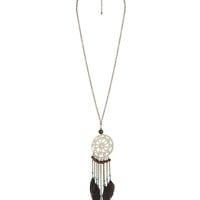 Crochet Dreamcatcher Necklace | FOREVER21 - 1011408824