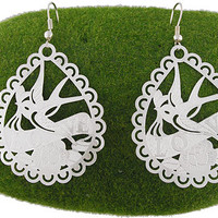 Filigree earrings-Silver - 