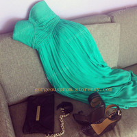 Chic Green chiffon dress/Graduation Dress from Chic prom