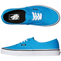 VANS MENS AUTHENTIC SHOE - MALIBU BLUE BLACK