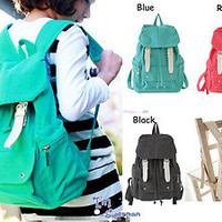 New Fashion Womens Vintage Retro School Style Backpack Bags Bookbags Travel Bag
