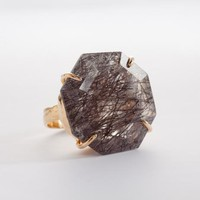 Abundant Octagon Tourmilated Quartz Ring | Jessica Ricci Jewelry