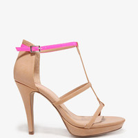 Neon Strap Platform Sandals | FOREVER 21 - 2030187585