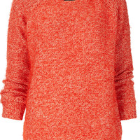 Knitted Fluffy Shimmer Jumper - Topshop USA