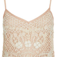 Heavy Embellished Cami Top - Tops  - Clothing
