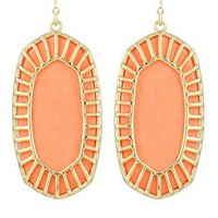 Delilah Oval Earrings in Coral - Kendra Scott Jewelry