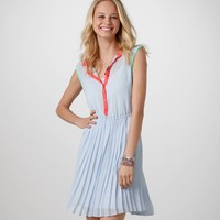 AE Pleated Chiffon Shirtdress | American Eagle Outfitters