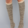 *Accessories Boutique The Leopard Print Knee High Sock in Khaki : Karmaloop.com - Global Concrete Culture