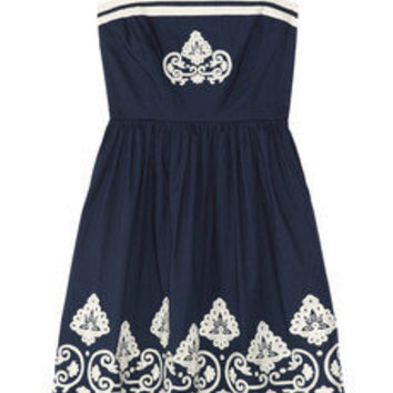 Collette by Collette Dinnigan | Embroidered cotton dress | NET-A-PORTER.COM