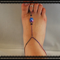 Multicolored Chain Barefoot Sandal  Pair  by BeYouTiFuLbyLindZ
