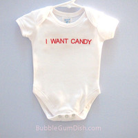 I WANT CANDY Baby Geekery Toddler Outfit Bodysuit Onesuit Embroidered
