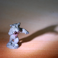 very scary were bear dnd figurine photograph by printeranji