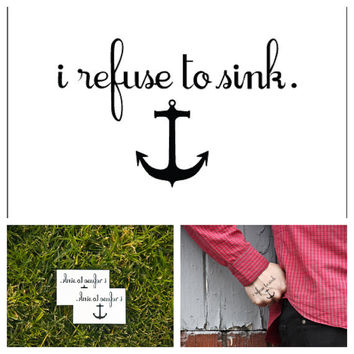 Anchor  temporary tattoo Set of 2 by Tattify on Etsy