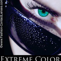 Amorous Aqua Extreme Color Contact Lenses