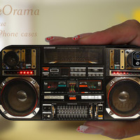 iPhone 5 case - BOOMBOX Ghetto Blaster funny iPhone 5 hard case, iPhone 5 cover, iPhone hard case