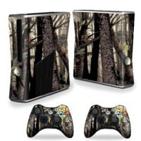 Amazon.com: Protective Vinyl Skin Decal Cover for Microsoft Xbox 360 S Slim + 2 Controller Skins Sticker Skins Tree Camo: Video Games