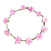 Elora Floral Head Crown - Pink