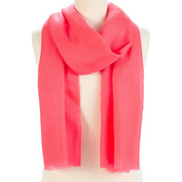One Kings Lane - Ready for Spring - Woolen Super Pashmina, Coral