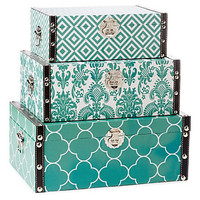 One Kings Lane - The Blues - S/3 Essentials Storage Boxes, Blue
