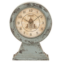 "One Kings Lane - The Blues - 16"" Distressed Blue Clock"