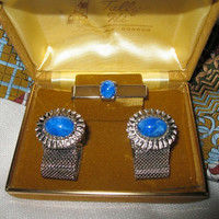 Vintage Silvertone Tally Hi cuff link set in original box