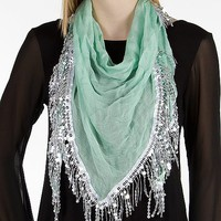 Sequin Fringe Scarf - Women's Accessories | Buckle