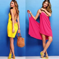 Cute Backless Beach Dress (6 Colors Available)