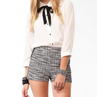 Pintucked Button Up w/ Neckerchief | FOREVER 21 - 2025101169