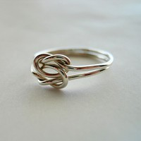 Love Knot 925 Sterling Silver Ring by StreetBauble on Etsy