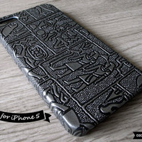 SALE30OFF iPhone 5 Case  Embossed Anicent Egypt by CocoonByWL