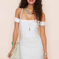 Kristine Crochet Dress in  Clothes Dresses at Nasty Gal
